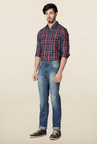 Peter England Blue Washed Jeans