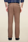 Peter England Brown Solid Cotton Chinos