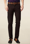 Peter England Brown Slim Fit Chinos