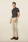 Peter England Beige Solid Chinos
