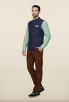 Peter England Blue Nehru Jacket