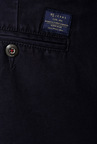 Peter England Navy Solid Cotton Chinos