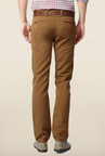 Peter England Brown Solid Jeans
