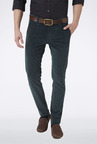 Peter England Green Slim Fit Casual Trouser