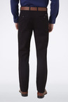 Peter England Dark Brown Solid Casual Trouser