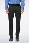 Peter England Olive Slim Fit Casual Trouser