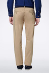 Peter England Khaki Solid Casual Trouser