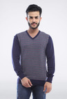 Allen Solly Navy Patterned Sweater