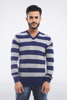 Allen Solly Blue Striped Sweater