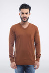 Allen Solly Brown Solid Sweater