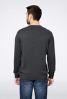 Allen Solly Grey Solid Cotton Sweater