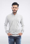 Allen Solly Grey Solid Sweater
