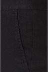 Peter England Black Solid Casual Trouser