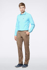 Peter England Khaki Slim Fit Casual Trouser
