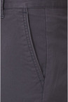 Peter England Grey Slim Fit Casual Trouser