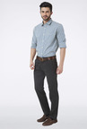 Peter England Grey Solid Casual Trouser