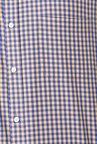 Peter England Beige & Blue Checks Formal Shirt