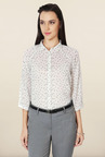Allen Solly White Printed Formal Shirt