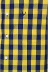 Allen Solly Yellow & Navy Checks Casual Shirt