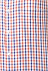 Peter England Red & Blue Cotton Formal Shirt