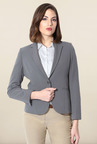 Allen Solly Grey Regular Fit Blazer
