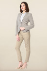 Allen Solly Grey Solid Blazer