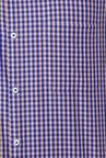 Peter England Blue & Brown Checks Formal Shirt
