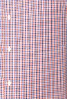 Peter England Red & Blue Checks Cotton Formal Shirt