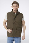 Peter England Olive Solid Casual Jacket