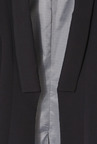Allen Solly Black Solid Blazer