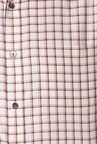 Peter England Beige Checks Cotton Formal Shirt