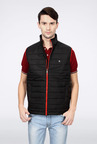 Peter England Black Padded Casual Jacket