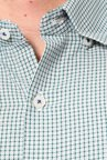 Peter England Green Checks Slim Fit Shirt