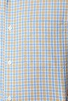 Peter England Blue & Yellow Cotton Formal Shirt