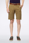 Allen Solly Khaki Solid Shorts