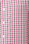 Peter England Pink Checks Slim Fit Cotton Formal Shirt
