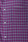 Peter England Pink & Navy Checks Formal Shirt