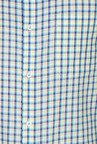 Peter England Blue Cotton Regular Fit Formal Shirt