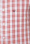 Allen Solly Red & White Checks Casual Shirt
