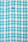 Allen Solly Light Blue Checks Slim fit Casual Shirt