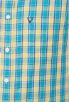 Allen Solly Blue & Yellow Checks Slim fit Casual Shirt