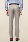 Peter England Beige Solid Slim Fit Trouser