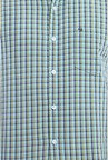 Peter England Green & Navy Checks Slim fit Casual Shirt