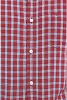 Peter England Maroon Checks Casual Shirt