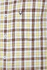 Allen Solly Yellow & Brown Checks Casual Shirt