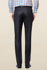 Peter England Navy Flat Front Trouser