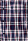 Allen Solly Navy & White Checks Casual Shirt