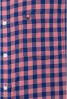 Allen Solly Pink & Navy Checks Casual Shirt