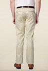Peter England Beige Cotton Trouser