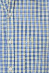 Peter England Yellow & Blue Checks Casual Shirt